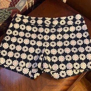 Ann Taylor LOFT floral print black shorts